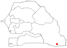 Location of Kédougou in Senegal
