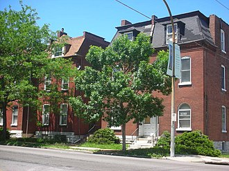 Dutchtown, St. Louis - Private residences in Dutchtown, houses of locally made brick