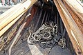 Saga Oseberg Details ropes fore bow etc Viking ship replica 2012 Tønsberg harbour Norway 2019-08-16 04292.jpg