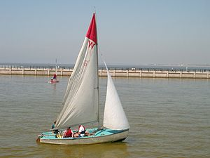 Sailing Dinghy, New Brighton Marine Lake.JPG