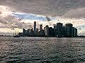 Sailing ship passing through New York Bay.jpg