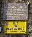 Saint-Maurice-en-Gourgois - Plaques place Régis Reymondon et rue du 19-Mars-1962.jpg