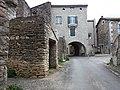 Saint-Maurice d'Ardèche - Centre du village et entrée de la mairie.jpg
