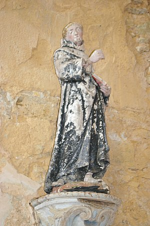 Tironensian Order - Statue of St. Adelelmus in the Monastery of Etival-en-Charnie