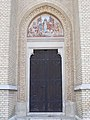 Saint Elisabeth Church side door, 2016 Budapest.jpg