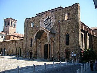 San Francesco, Lodi - Façade of the church.