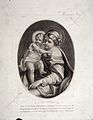 Saint Mary (the Blessed Virgin) with the Christ Child. Stipp Wellcome L0023718.jpg