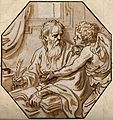 Saint Matthew. Watercolour drawing. Wellcome V0032638.jpg