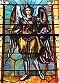 Saint Patrick Church (Bellefontaine, Ohio) - stained glass, St. Michael.JPG
