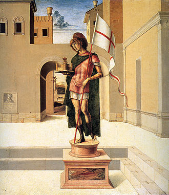 Terence of Pesaro - Saint Terence on the predella of the Pesaro Altarpiece