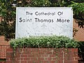 Saint Thomas More Cathedral sign (Arlington, Virginia).JPG