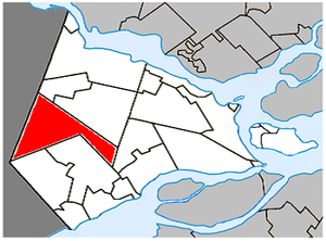 Sainte-Justine-de-Newton, Quebec - Image: Sainte Justine de Newton Quebec location diagram