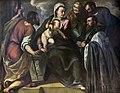 San Giacomo dall'Orio (Venice) - Il parroco da Ponte davanti alla Vergine, San Marco, San Silvestro e San Giacomo - Palma il giovane.jpg