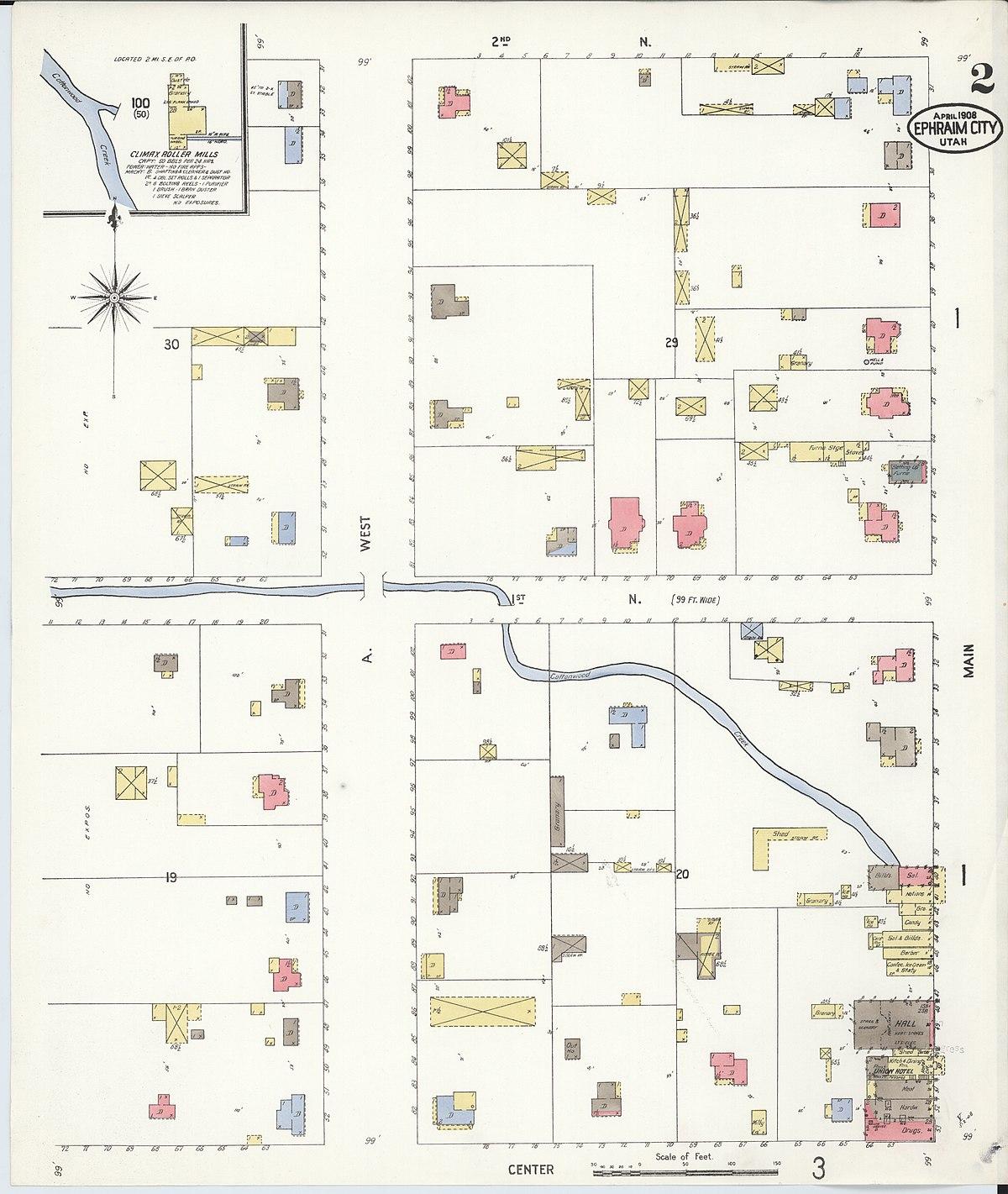File:Sanborn Fire Insurance Map From Ephraim, Sanpete