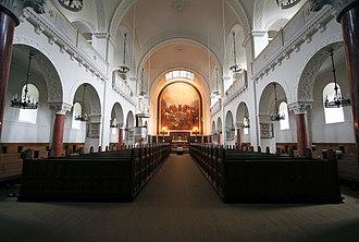 St. Matthew's Church, Copenhagen - Image: Sankt Matthaeus Kirke Copenhagen interior wide