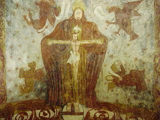 Santa Comba de Bande, pinturas boveda ábside.jpg