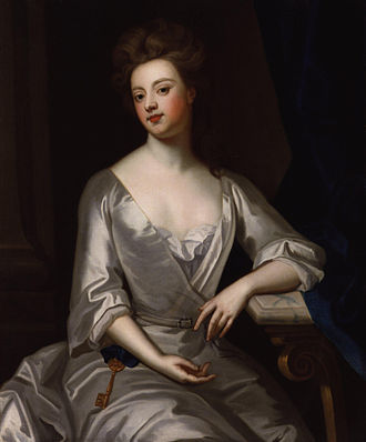 The Duchess of Marlborough wearing the symbol of her office and authority: the gold key. Sir Godfrey Kneller, 1702 Sarah Churchill, Duchess of Marlborough by Sir Godfrey Kneller, Bt.jpg