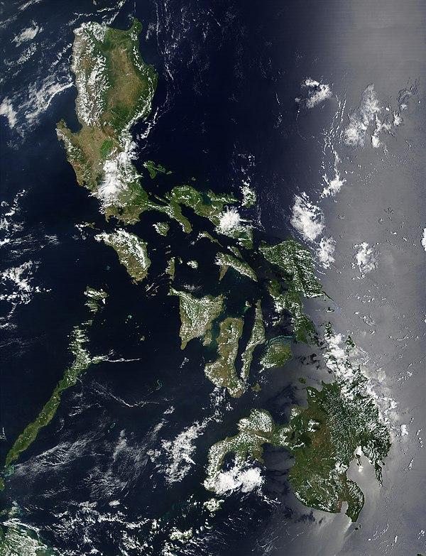 菲律宾卫星地图