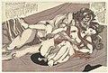 Satyr en nimf bedrijven de liefde Wilgen storm (serietitel) Yanagi no arashi (serietitel), RP-P-2007-240.jpg