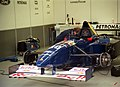 Sauber C14 - Heinz-Harald Frentzen in the pit garage at the 1995 British GP, Silverstone (49712756297).jpg