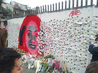 Thirty-sixth Amendment of the Constitution of Ireland - A mural outside the Bernard Shaw Pub in Portobello, Dublin depicting Savita Halappanavar and calling for a Yes vote. After the result was announced, hundreds of Yes supporters left handwritten messages and flowers at the mural.