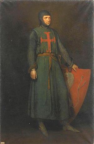 Amaury VI of Montfort - Amaury VI de Montfort (1192-1241), comte de Leicester en 1218, connétable de France en 1230 by Hendrik Scheffer, 1835