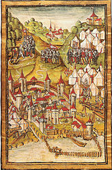 Siege of Murten in the Lucerne Chronicle