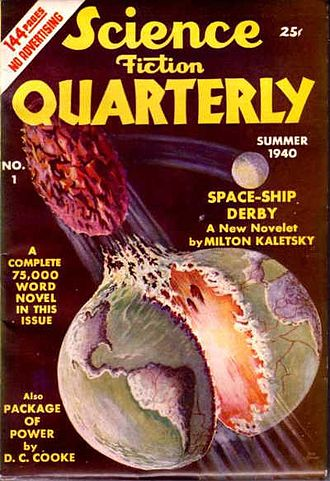 Science Fiction Quarterly - The first issue, dated Summer 1940; cover art by Jack Binder