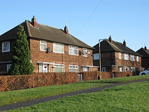 Council house - Semi-detached council house in Seacroft, Leeds, West Yorkshire