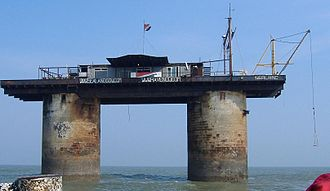 Principality of Sealand - Sealand several months after the devastating fire of 2006
