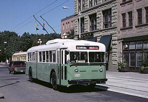 Twin Coach - A restored 1940 Twin Coach trolley bus in Seattle