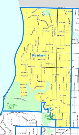 Seattle Broadview Map