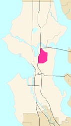 Capitol Hill's location in Seattle