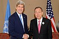 Secretary Kerry Meets With U.N. Secretary-General Ban at Syria Donors' Conference (11962823324).jpg