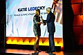 """Secretary Kerry Presents Katie Ledecky With the """"Female Athlete of the Olympic Games"""" at the U.S. Olympic Committee Team USA Award Show in Washington (29922298181).jpg"""