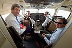 Secretary Kerry Sits With the Pilots of his U.S. Air Force Plane During the Last Flight of his Tenure (31584172703).jpg