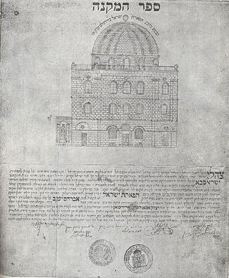 Tiferet Yisrael Synagogue - Acquisition Scroll, 1872