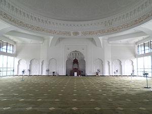 Senai Airport Mosque - Senai Airport Mosque prayer hall