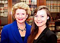 Senator Stabenow meets with a constituent interning in D.C. (14495994684).jpg