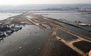 Sendai Airport - Tsunami flooding around the airport