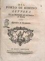 Serafino Calindri – Del porto di Rimino lettera di un riminese ad un'a, 1768 - BEIC 2059513.tif