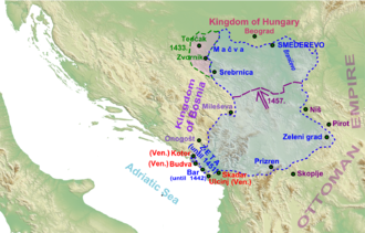 Maria of Serbia, Queen of Bosnia - The decline of the Serbian Despotate in the late 1450s