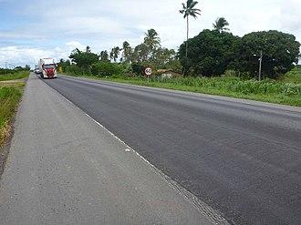 BR-101 - Image: Sergipe BR 101 (pavimento)