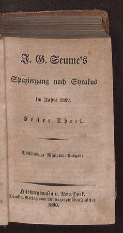 Spaziergang nach Syrakus im Jahre 1802, 1830-1841