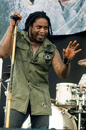 Lajon Witherspoon - Witherspoon during a Sevendust concert in May 2010.
