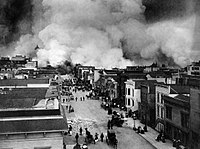 San Francisco Mission District burning in the ...