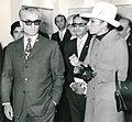 Shah and Queen Farah at the High Urban Planning Council, Tehran, Iran, 1966.jpg