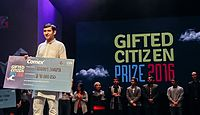 Sharma Receiving the Gifted Citizen Prize.jpg