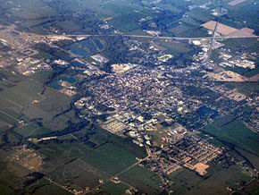 Aerial photo of Shelbyville.