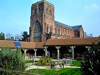 Sandwell Priory - Shrewsbury Abbey, an important Benedictine house in the Middle Ages, an Anglican parish church today.